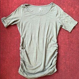 Green maternity shirt